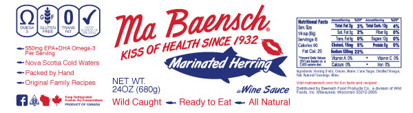 Herring in Wine Sauce Label