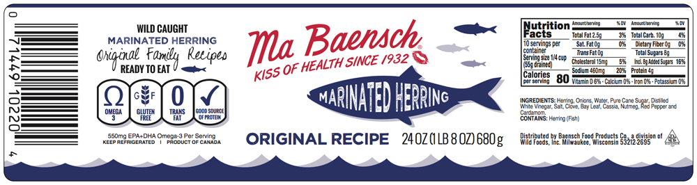 Herring in Wine Sauce Label